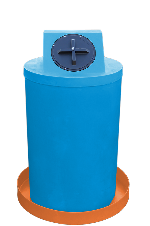 Cadet Blue Drum Crown with Orange spill pan