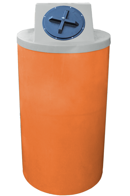 Orange Big Bin with Light Gray Lid