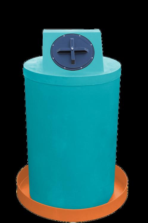 Jade Drum Crown with Orange spill pan