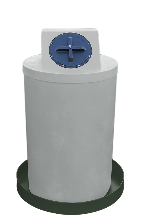 Light Gray Drum Crown with Bottle Green spill pan