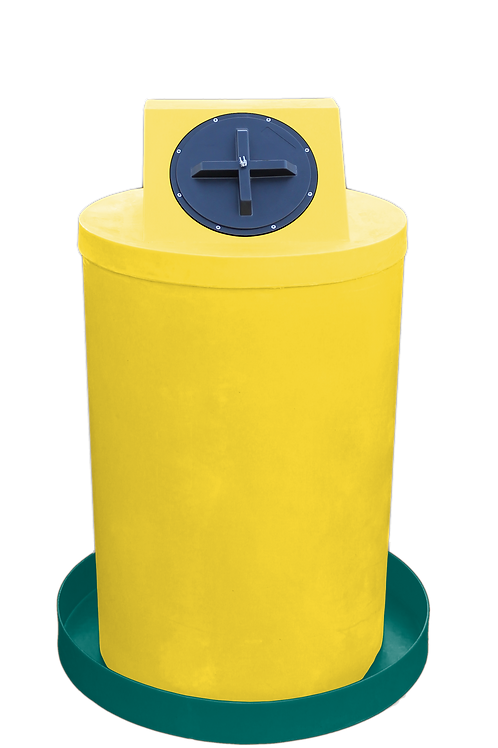 Yellow Drum Crown with Forest Green spill pan