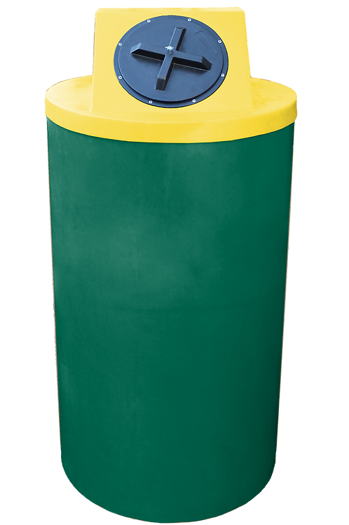 Hunter Green Big Bin with Yellow Lid