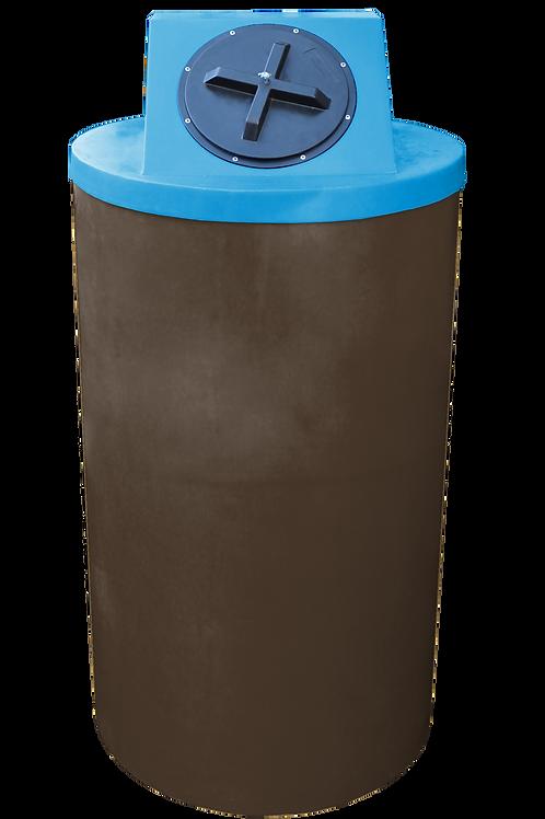 Brown Big Bin with Cadet Blue Lid