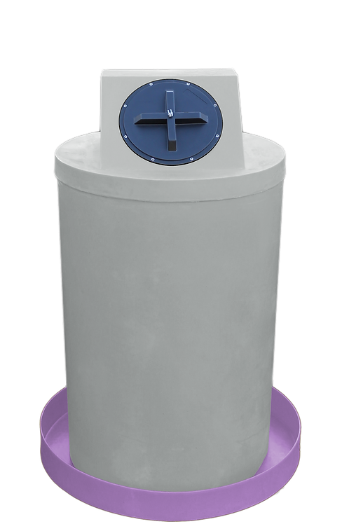 Light Gray Drum Crown with Purple spill pan