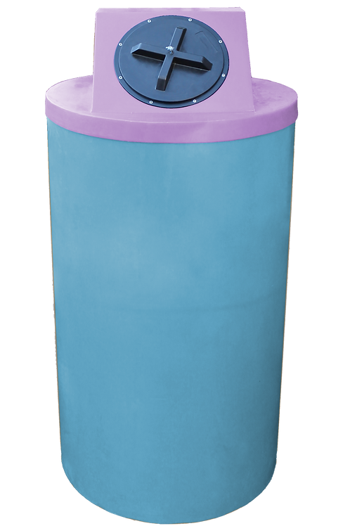 Powder Big Bin with Purple Lid