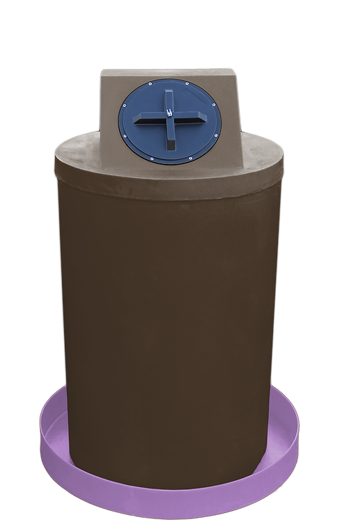 Brown Drum Crown with Purple spill pan