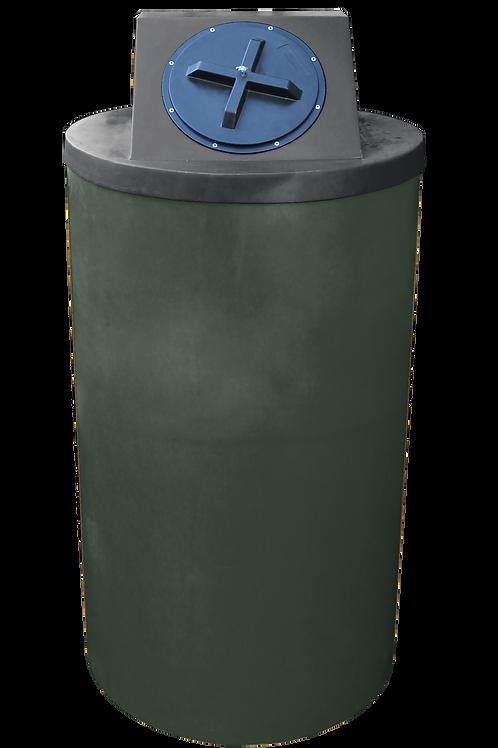 Bottle Green Big Bin with Black lid