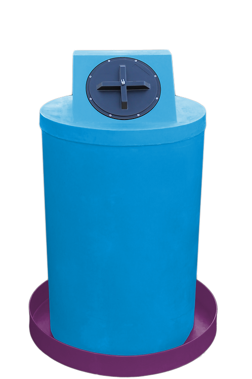 Cadet Blue Drum Crown with Wine spill pan