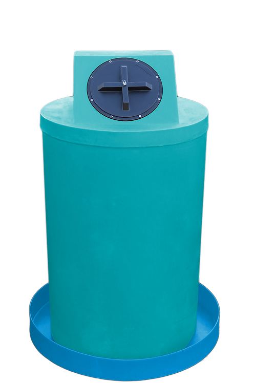 Jade Drum Crown with Cadet Blue spill pan