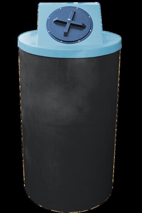 Black Big Bin with Powder lid