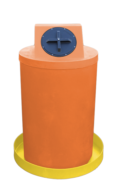 Orange Drum Crown with Yellow spill pan
