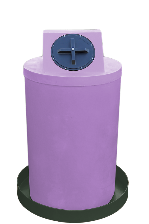 Purple Drum Crown with Bottle Green spill pan