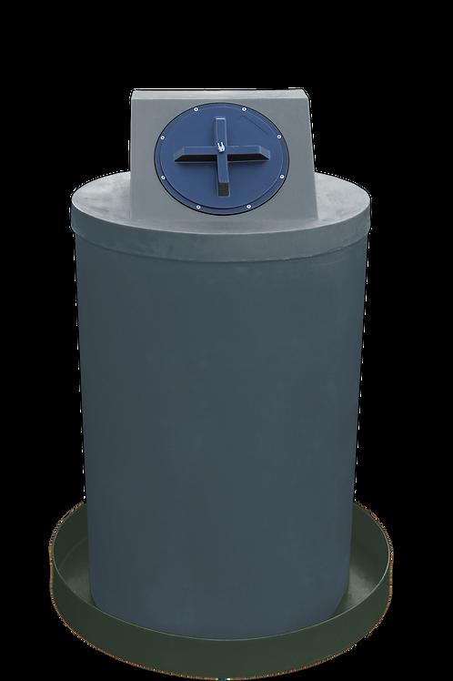 Dark Gray Drum Crown with Bottle Green spill pan