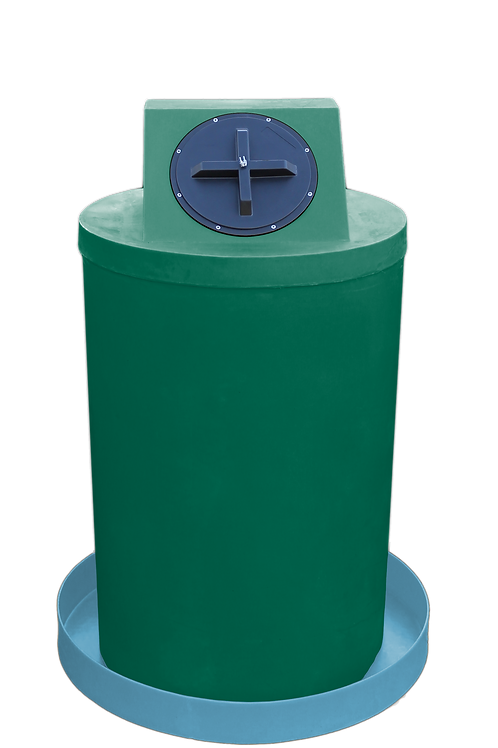 Hunter Green Drum Crown with Powder spill pan