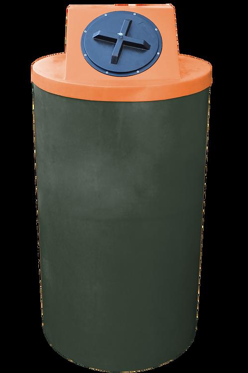 Bottle Green Big Bin with Orange lid