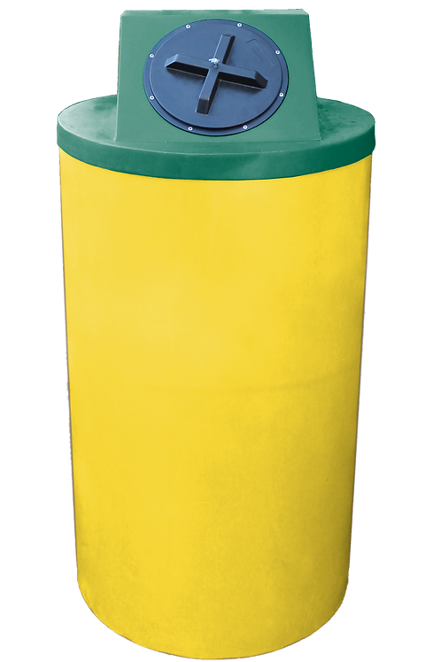 Yellow Big Bin with Hunter Green Lid