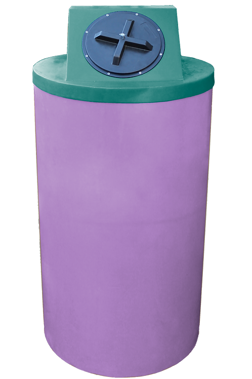 Purple Big Bin with Forest Green Lid