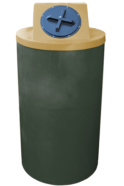 Bottle Green Big Bin with Gold lid