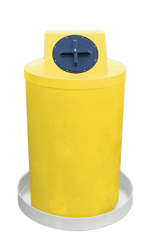 Yellow Drum Crown with Natural spill pan