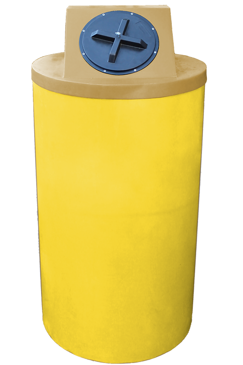 Yellow Big Bin with Gold Lid