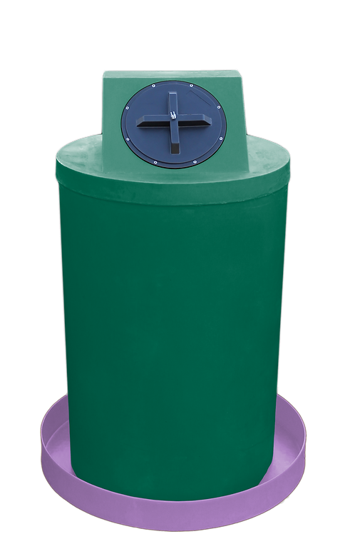 Hunter Green Drum Crown with Purple spill pan