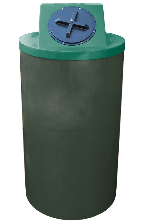 Bottle Green Big Bin with Hunter Green lid