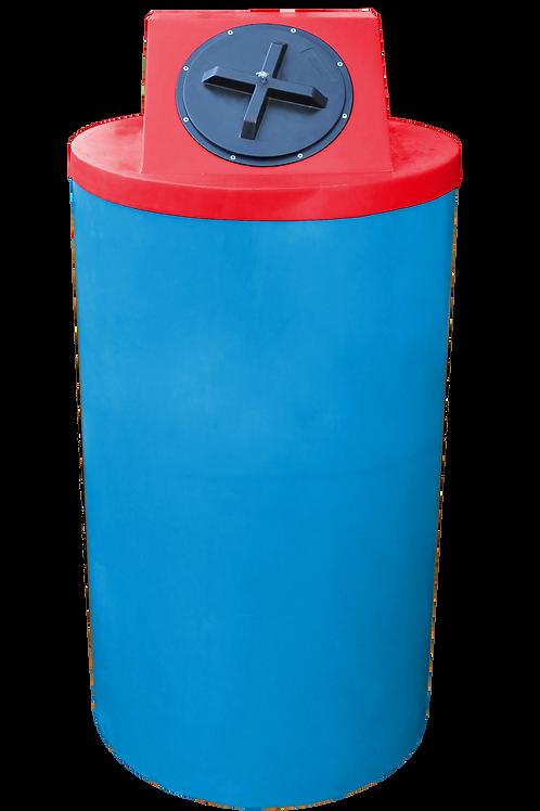 Cadet Blue Big Bin with Red Lid