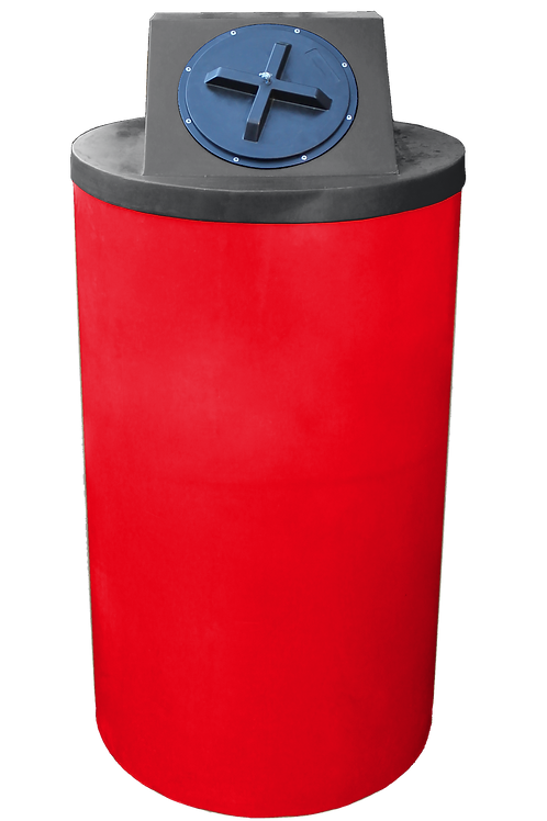 Red Big Bin with Black Lid