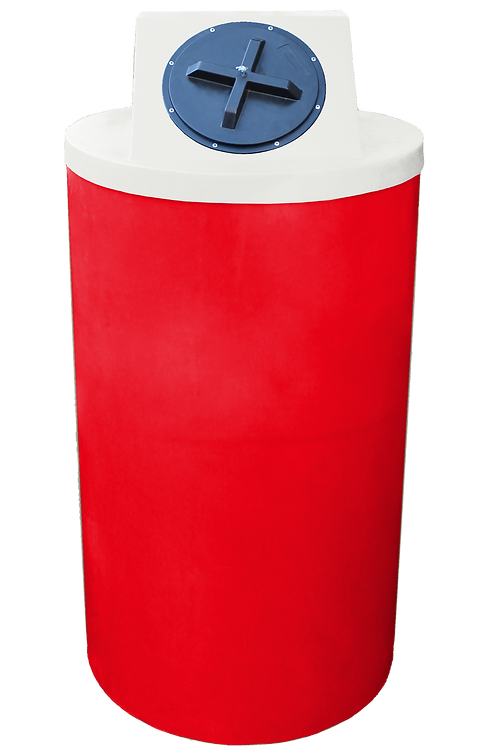 Red Big Bin with Natural Lid