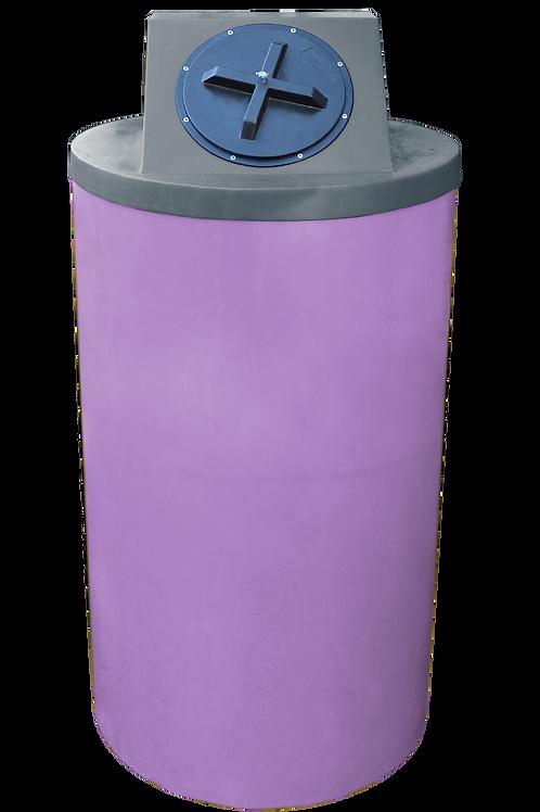 Purple Big Bin with Dark Gray Lid