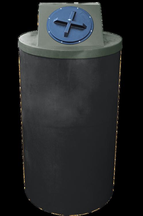 Black Big Bin with Bottle Green lid