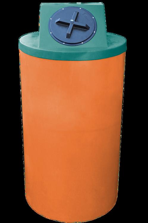 Orange Big Bin with Forest Green Lid