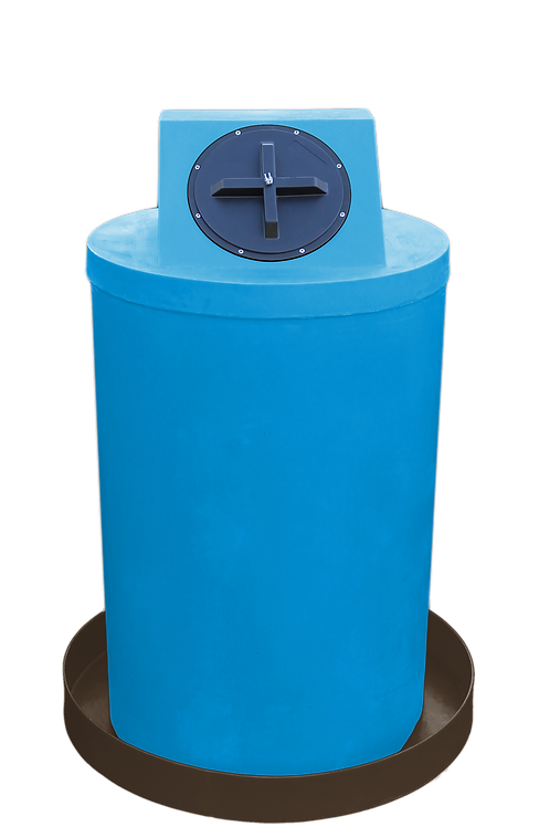 Cadet Blue Drum Crown with Brown spill pan