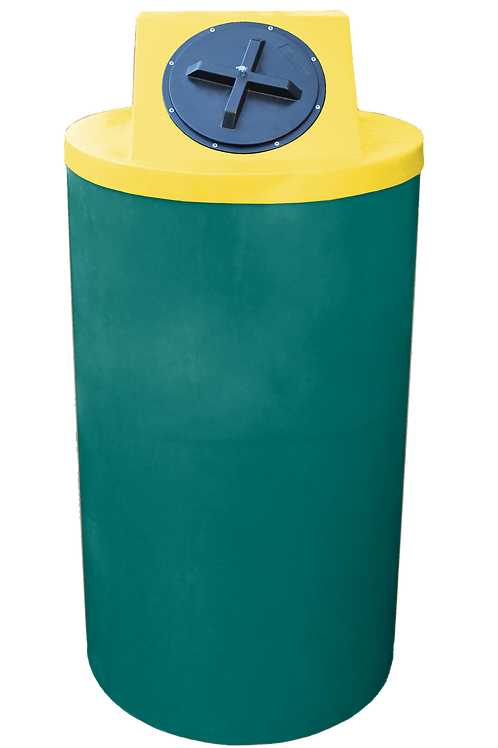 Forest Green Big Bin with Yellow Lid