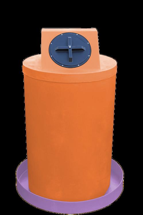 Orange Drum Crown with Purple spill pan