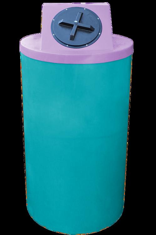 Jade Big Bin with Purple Lid