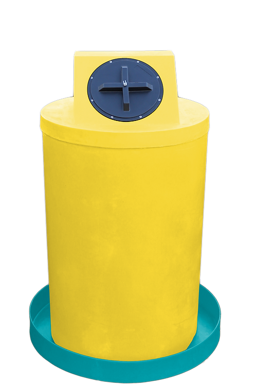 Yellow Drum Crown with Jade spill pan