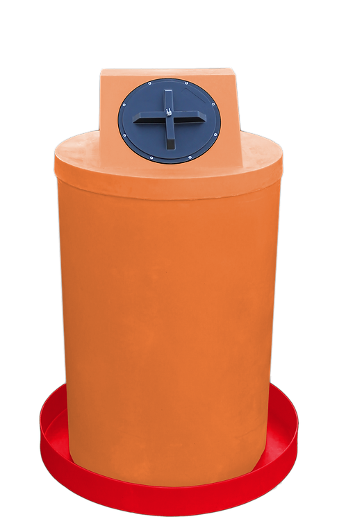 Orange Drum Crown with Red spill pan