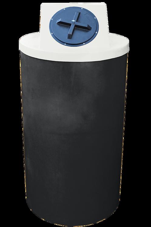 Black Big Bin with Natural lid