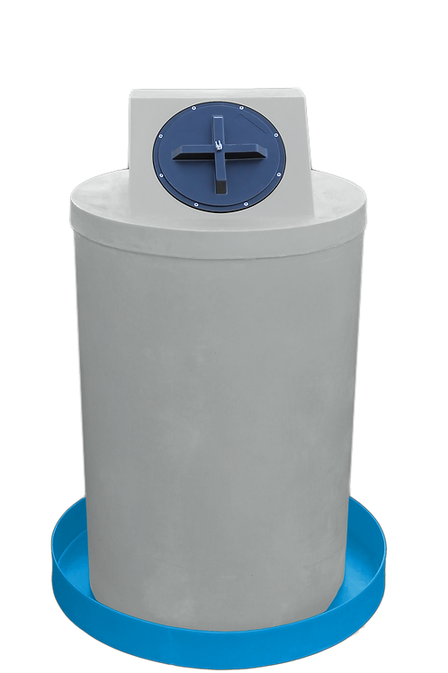 Light Gray Drum Crown with Cadet Blue spill pan