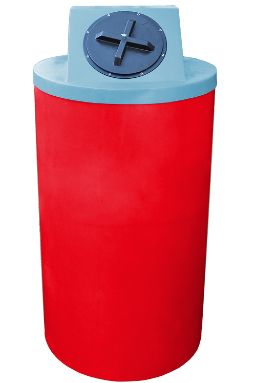 Red Big Bin with Powder Lid