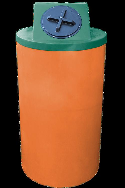Orange Big Bin with Hunter Green Lid
