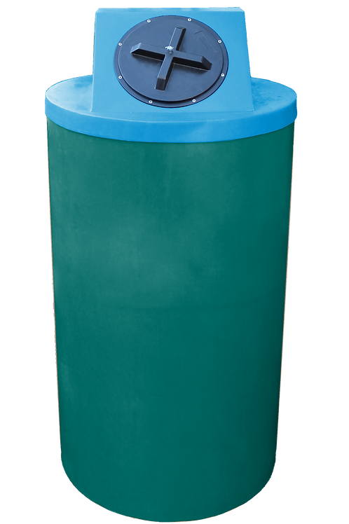 Forest Green Big Bin with Cadet Blue Lid