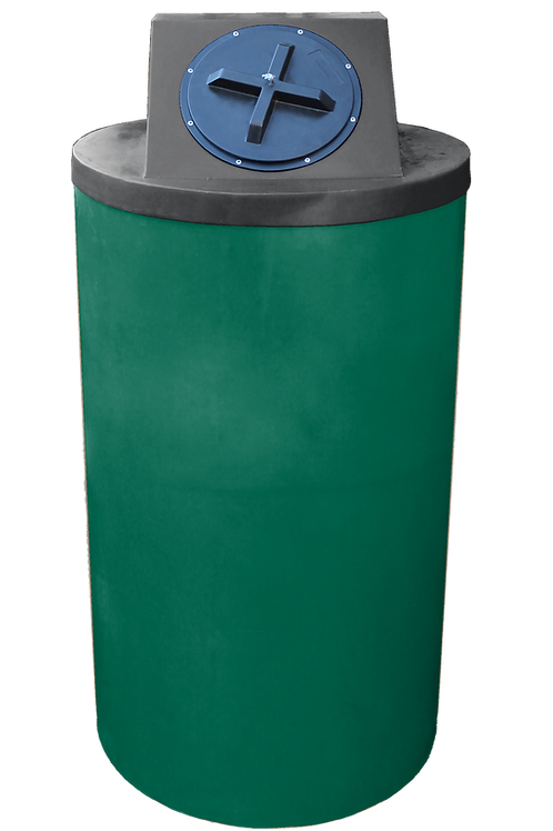Hunter Green Big Bin with Black Lid