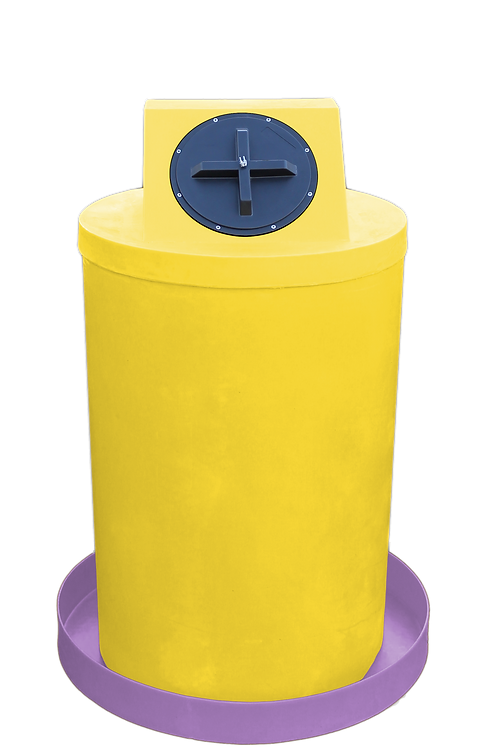 Yellow Drum Crown with Purple spill pan