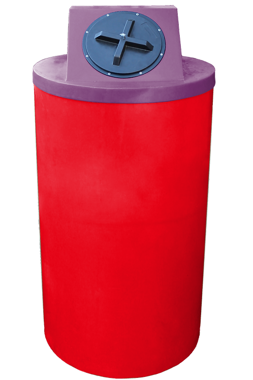 Red Big Bin with Wine Lid