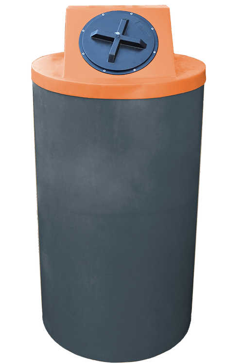 Dark Gray Big Bin with Orange Lid