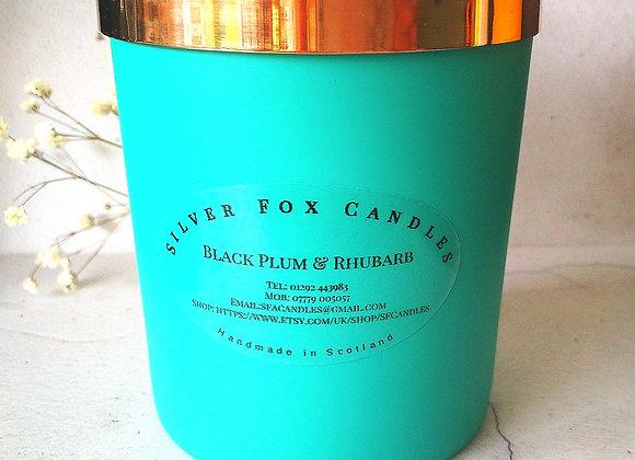 220g Turquoise Jar Candle, Luxury Vegan Friendly Candle