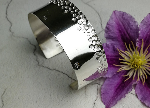 Handmade Sterling Silver Textured Cuff