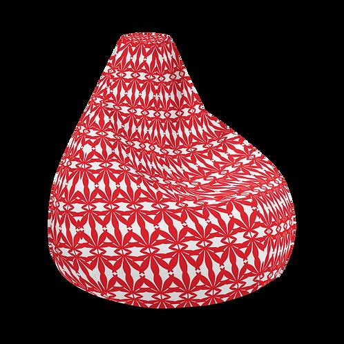 Red Herbal Life Bean Bag